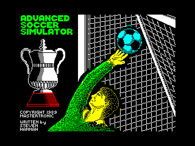 Advanced Soccer Simulator screen