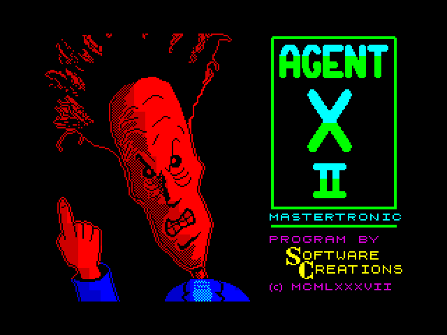 Agent X II screen