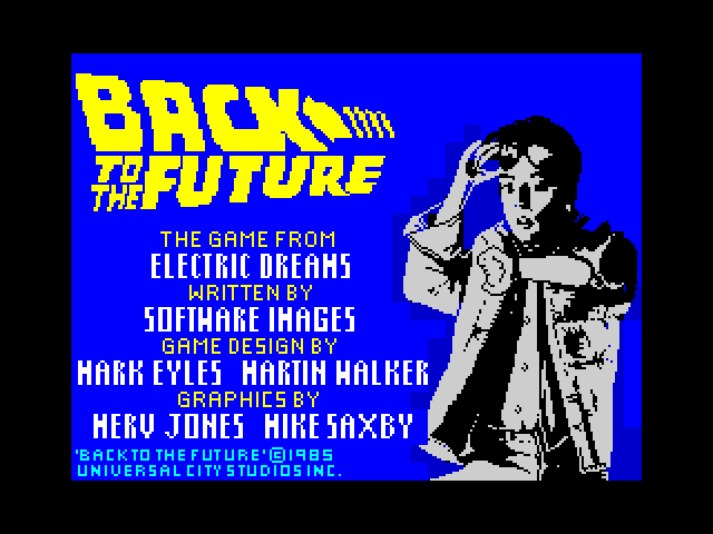 Back to the Future loading screen
