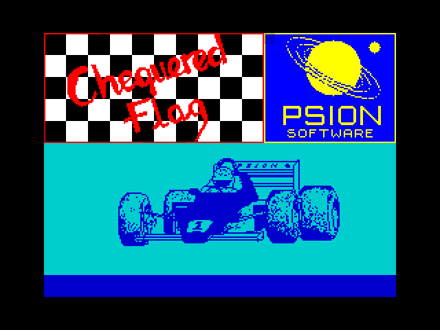 Chequered Flag screen