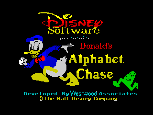 Donald's Alphabet Chase screen