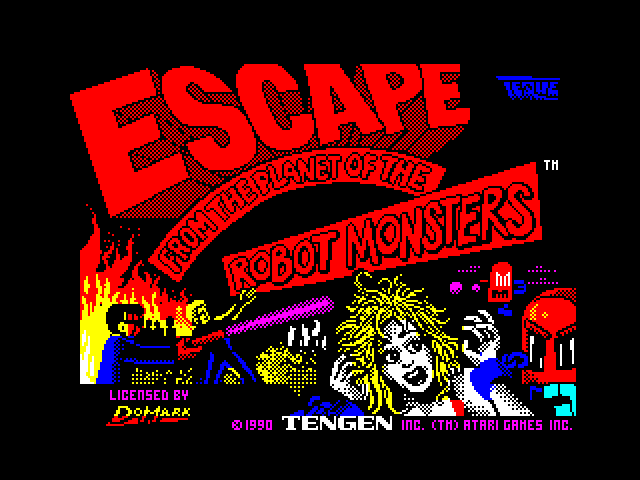 Escape from the Planet of the Robot Monsters screen