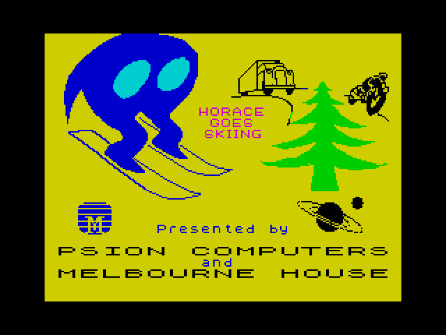 Horace Goes Skiing loading screen