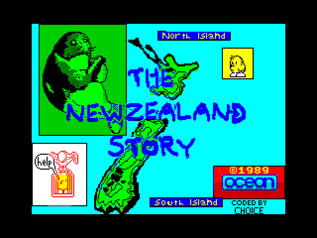 The New Zealand Story loading screen