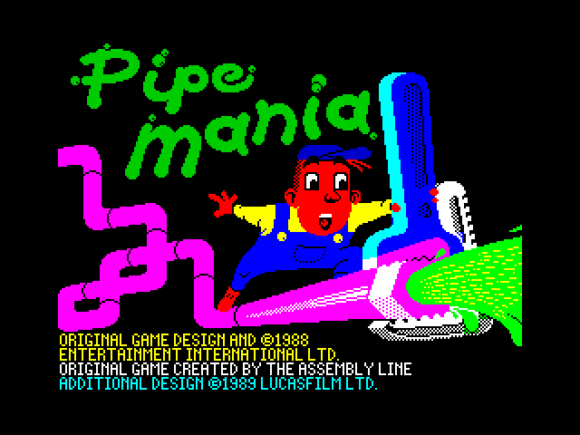 Pipe Mania loading screen