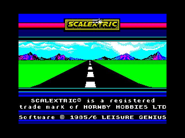 Scalextric screen