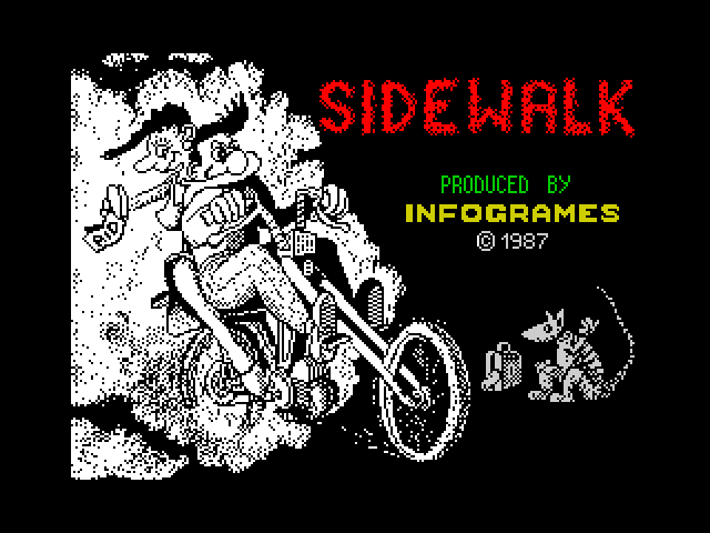 Sidewalk loading screen
