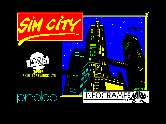 Sim City screen