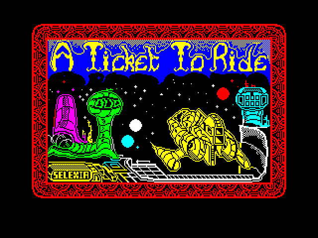 A Ticket to Ride screen