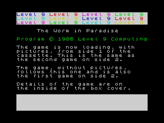 The Worm in Paradise screenshot