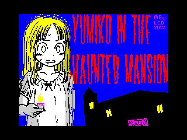 Yumiko in the Haunted Mansion loading screen