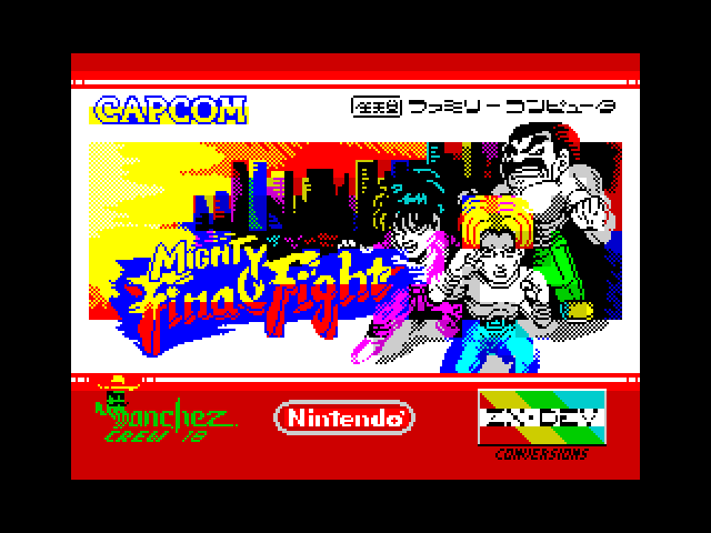 Mighty Final Fight screen