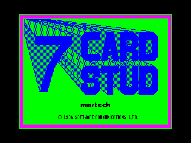 7 Card Stud screen