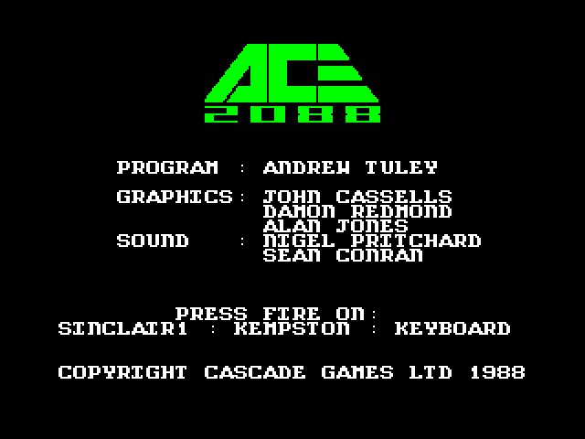 ACE 2088 screen