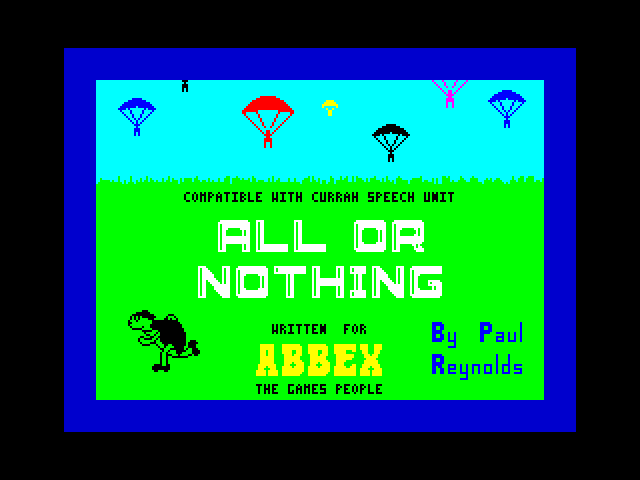 All or Nothing screen