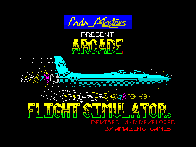 Arcade Flight Simulator screen