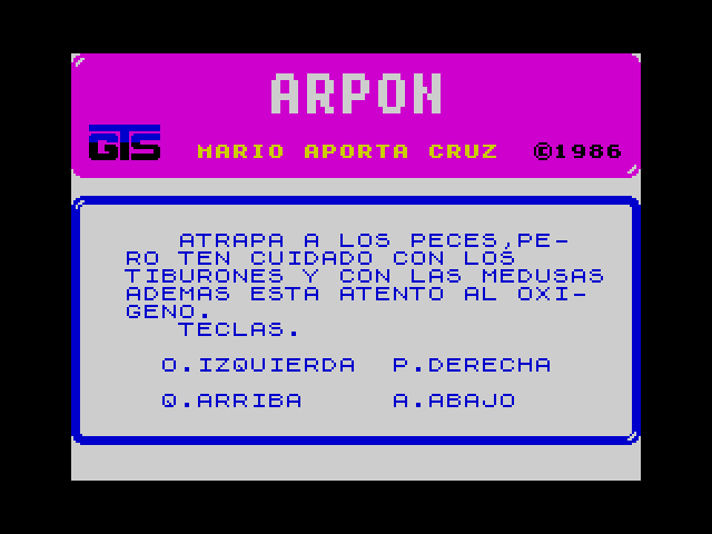 Arpon screenshot