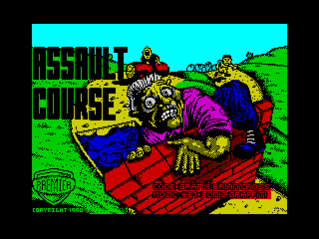 Assault Course screen