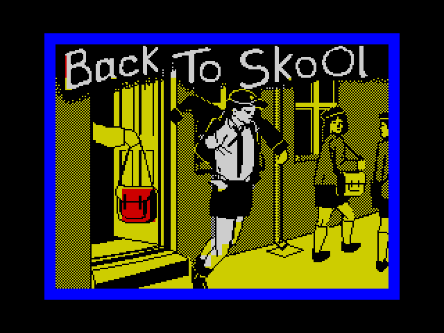 Back to Skool screen