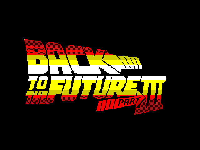 Back to the Future Part III screen