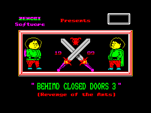 Behind Closed Doors 3: Revenge of the Ants screen