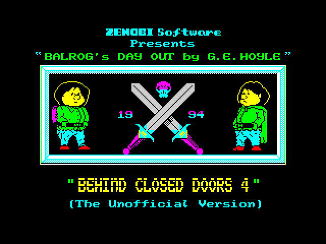 Behind Closed Doors 4: Balrog's Day Out image, screenshot or loading screen