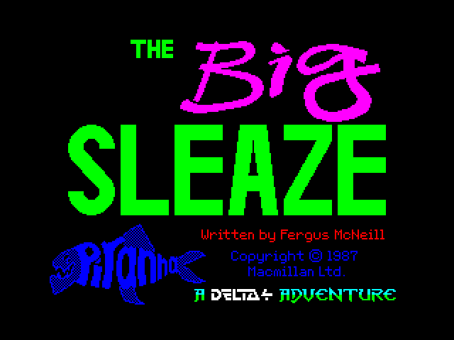 The Big Sleaze screen