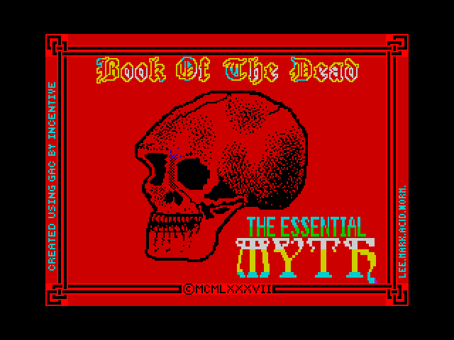 Book of the Dead screen