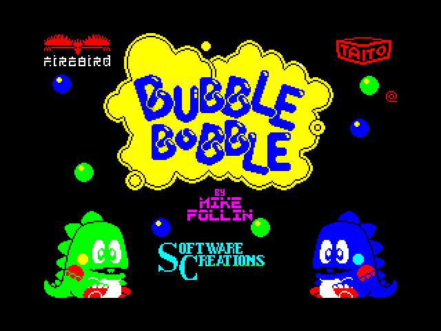 Bubble Bobble screen