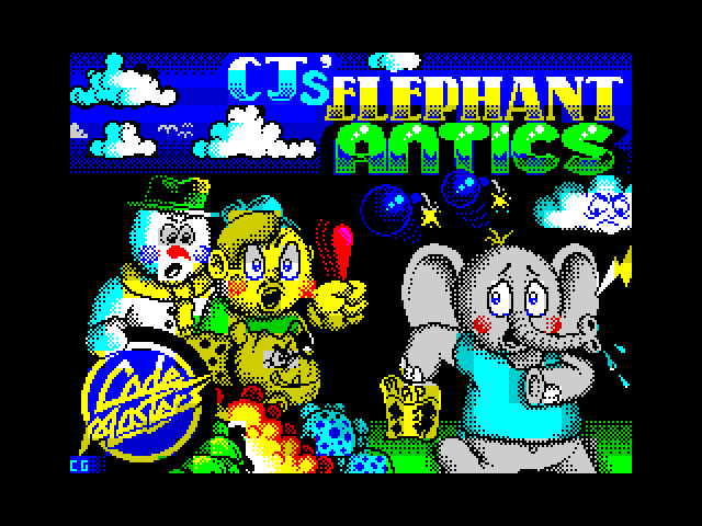 CJ's Elephant Antics screen