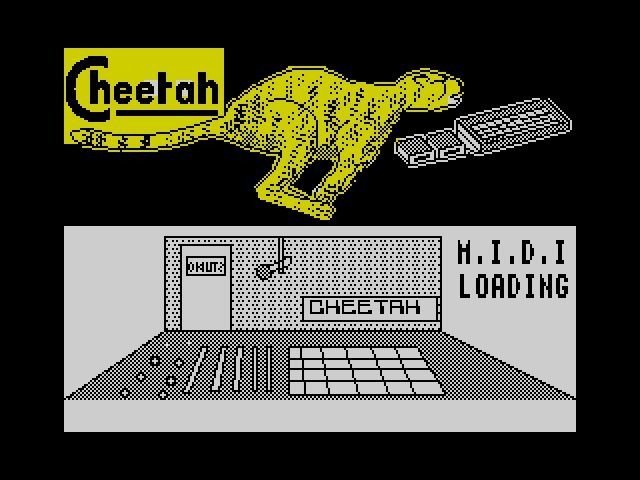 Cheetah MIDI Interface screen