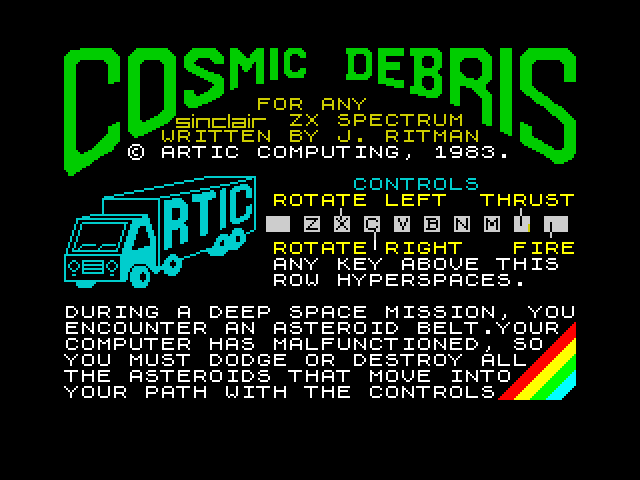 Cosmic Debris screen