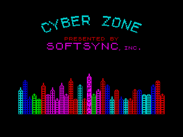 Cyber Zone screen