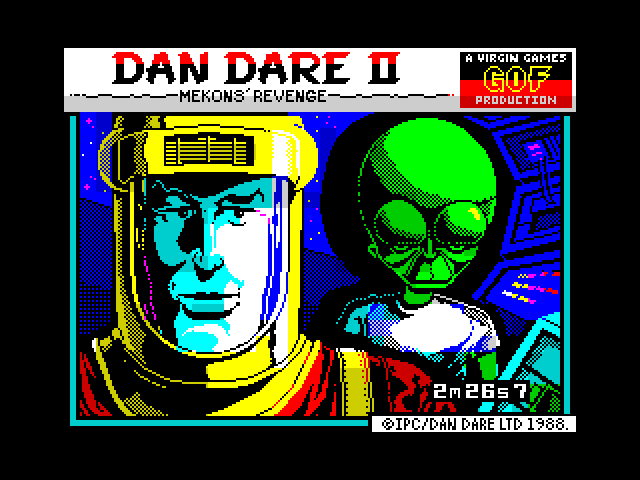 Dan Dare II: Mekon's Revenge screen