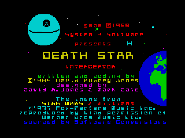 Death Star Interceptor screen