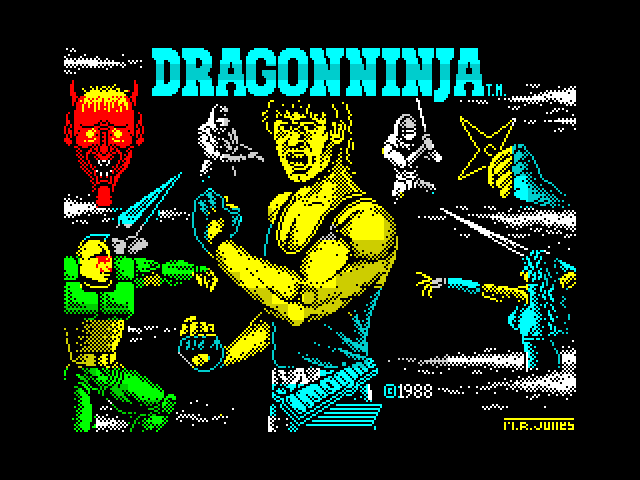 Dragon Ninja screen