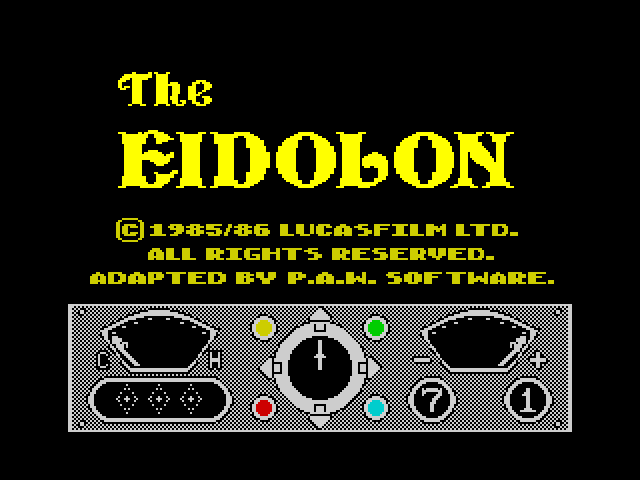 The Eidolon screen