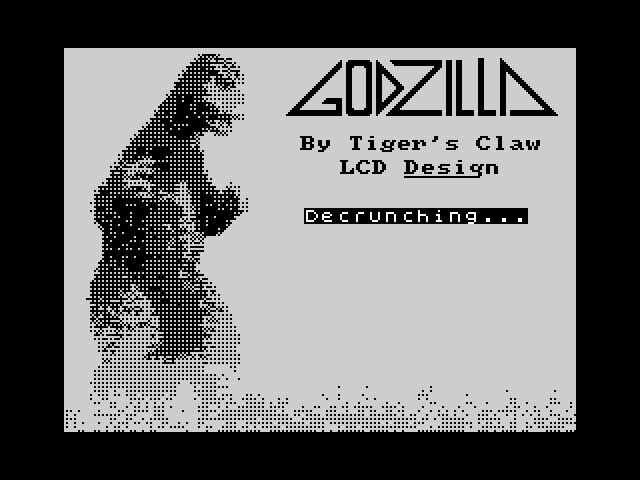 Godzilla: The Atomar Nightmare screen