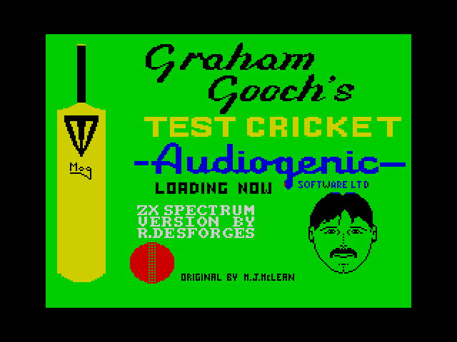 Graham Gooch's Test Cricket screen