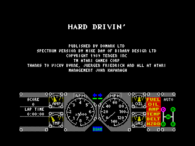 Hard Drivin' screenshot