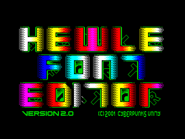 Hewle Font Editor screen