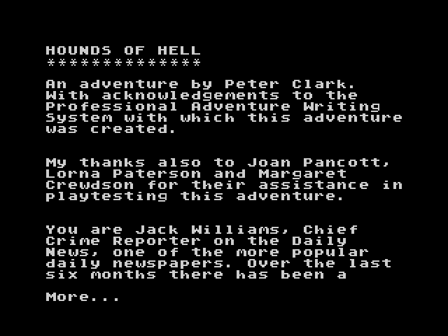 Hounds of Hell screen