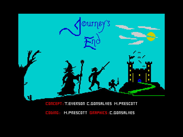 Journey's End screen
