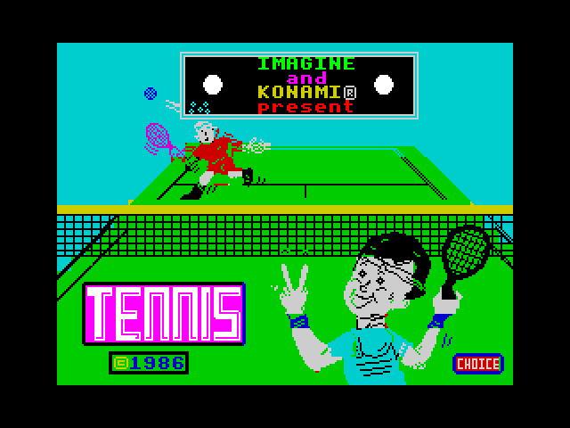 Konami's Tennis image, screenshot or loading screen