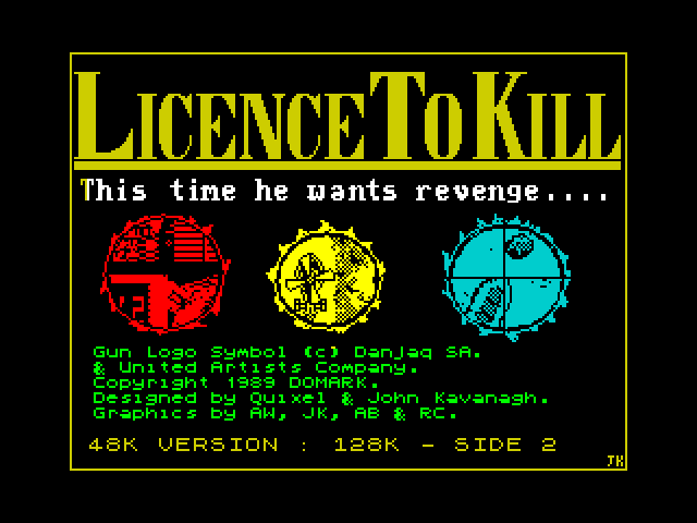 Licence to Kill screen