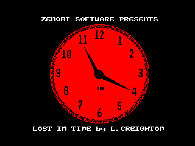 Lost in Time screen