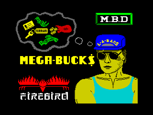 Mega Bucks screen