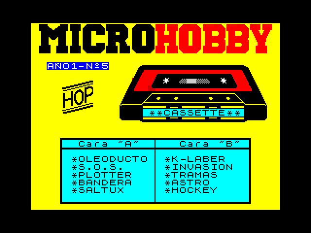 MicroHobby Cassette 05 image, screenshot or loading screen
