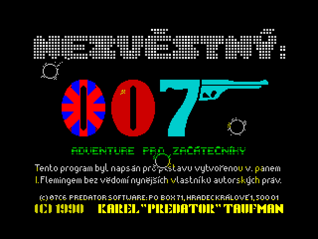 Nezvěstný: 007 image, screenshot or loading screen