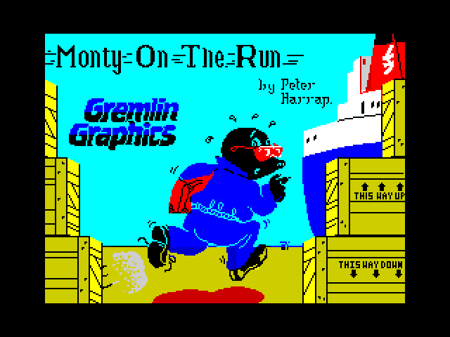 Monty on the Run screen